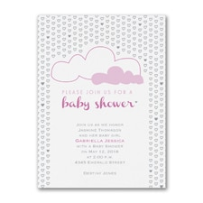 Shower of Hearts - Baby Shower Invitation