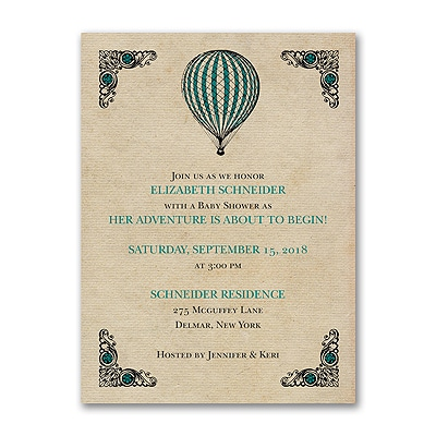 Adventure Awaits - Baby Shower Invitation