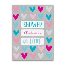 Heart Shower - Baby Shower Invitation