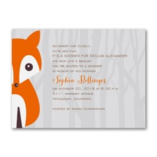 Alphabet Fox Boy - Baby Shower Invitation