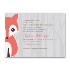 Alphabet Fox Girl - Baby Shower Invitation