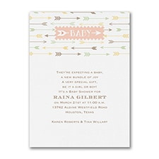 Little Arrows - Baby Shower Invitation