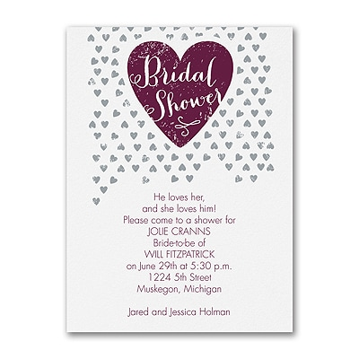 Tiny Hearts - Bridal Shower Invitation