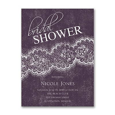 Lacy Sash - Bridal Shower Invitation