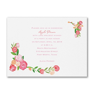 Modern Roses - Bridal Shower Invitation
