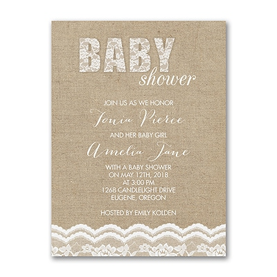 Sweet Lace - Baby Shower Invitation
