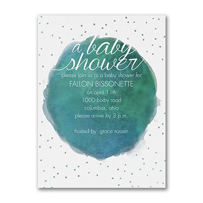 Watercolor Confetti - Baby Shower Invitation