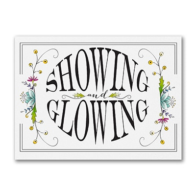 Showing and Glowing - Baby Shower Invitation
