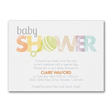 Little Rattle - Baby Shower Invitation