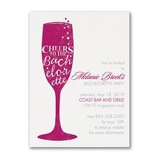 Bridal Shower Invitation: Bachelorette Cheers
