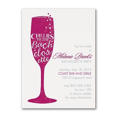 Bachelorette Cheers - Bachelorette Party Invitation