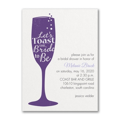Toast the Bride - Bridal Shower Invitation