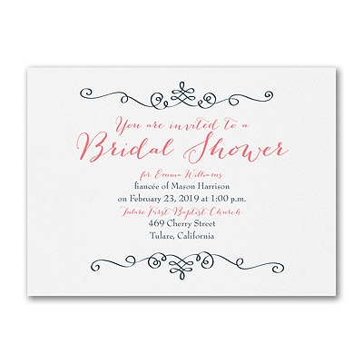 modern romantic bridal shower invitation