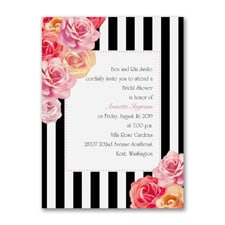 Roses and Stripes - Bridal Shower Invitation