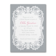 Bridal Shower Invitation: Graceful Lace