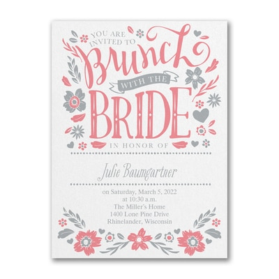 Let's Do Brunch - Bridal Shower Invitation