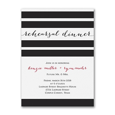 Classic Stripes - Rehearsal Dinner Invitation