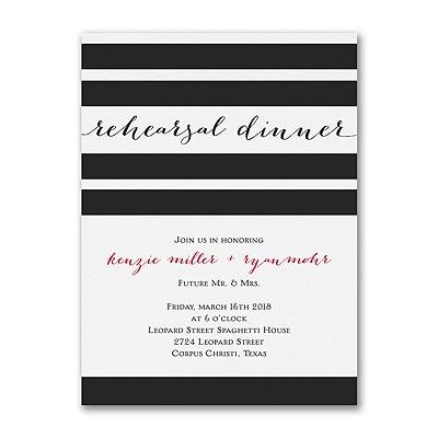 Classic Stripes - Rehearsal Dinner Invitation