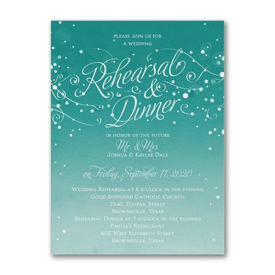 Big Night Before - Rehearsal Dinner Invitation