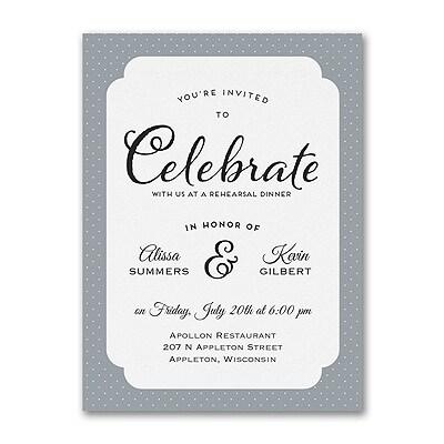 Celebrate Before Rehearsal Dinner Invitation Pre Wedding Parties