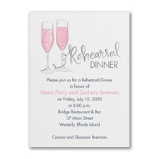 Night Before Bubbly - Bridal Shower Invitation