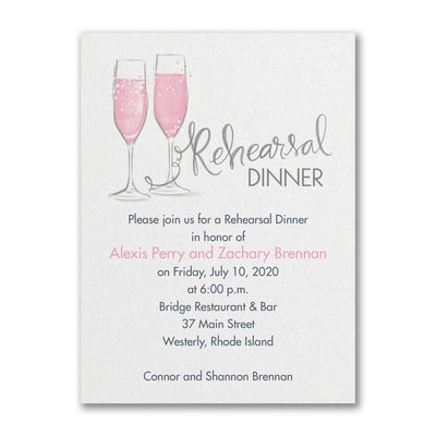 Night Before Bubbly - Rehearsal Dinner Invitation