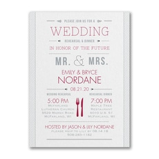 Practice and Party - Bridal Shower Invitation