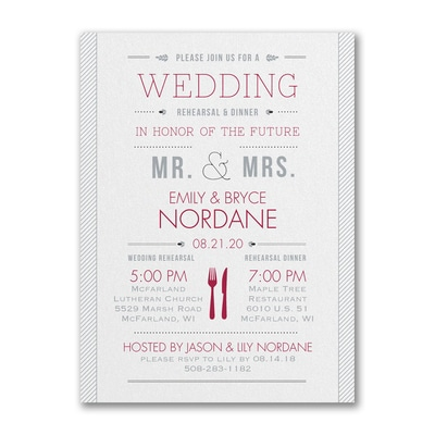Practice and Party - Rehearsal Dinner Invitation