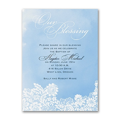 Lacy Blessing - Baptism Invitation