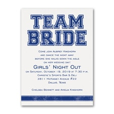 Bridal Shower Invitation: Team Bride