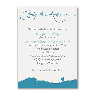 tie the knot photo engagement party invitation engagement