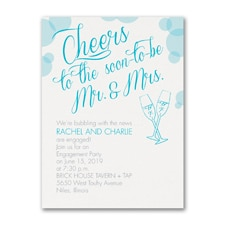 Bridal Shower Invitation: Bubbly Cheers