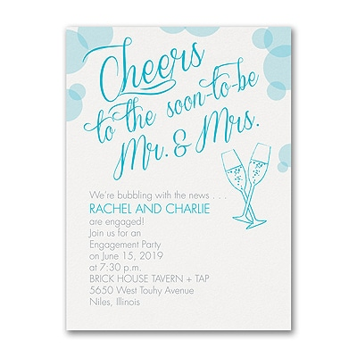 Bubbly Cheers - Engagement Party Invitation