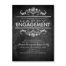 Bridal Shower Invitation: Chalkboard News