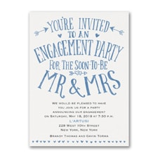 Bridal Shower Invitation: Almost Mr and Mrs