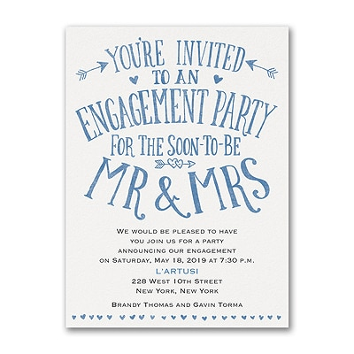 Almost Mr and Mrs - Engagement Party Invitation
