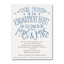 Almost Mrs and Mrs - Engagement Party Invitation