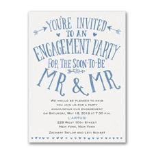 Almost Mr and Mr - Engagement Party Invitation