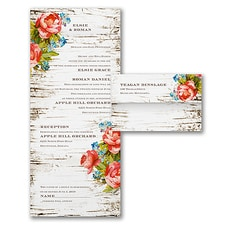 rustic invitation: Woodsy Roses