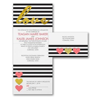 Love Stripes - Seal 'n Send Invitation