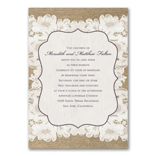 Weathered Lace - Vow Renewal Invitation