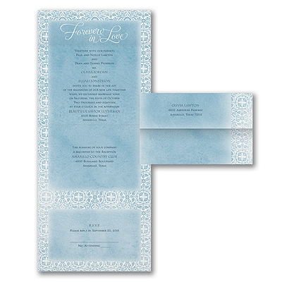 Watercolor Damask - Seal 'n Send Invitation