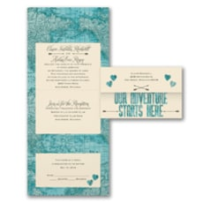 Adventure Starts Here - All In One Invitation
