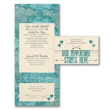 Destination Wedding Invitation: Adventure Starts Here