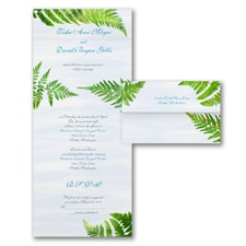 With RSVP Cards: Watercolor Fern