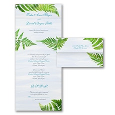 greenery wedding invitation: Watercolor Fern