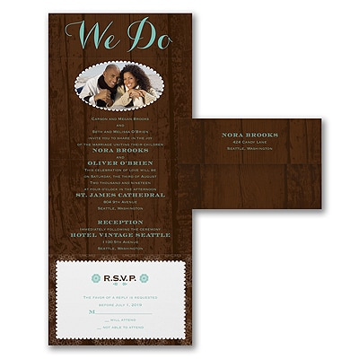 Rustic We Do - Photo Seal 'n Send Invitation