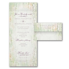 rustic invitation: Birch Forest