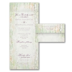 All In One Invitation: Birch Forest