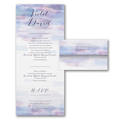 Soft Watercolor - Seal 'n Send Invitation